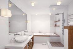 Subway Tile, Alcove, Bathtub, Vanity, Contemporary, Bathroom, Apartment Bathroom Design, Zen Bathroom, Stall Shower