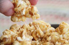Chewy Caramel Popcorn. Nobody wants to break their teeth eating yummies.