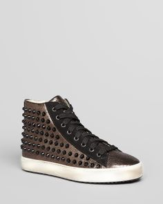 Stokton Lace Up High Top Sneakers - Studded | Bloomingdale's