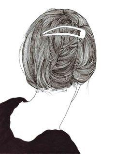 drawings of hair