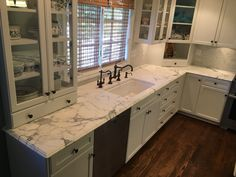 Marble Countertops, Kitchen Cabinets, Home Decor, Marble Counters, Decoration Home, Room Decor, Kitchen Cupboards, Interior Design, Home Interiors