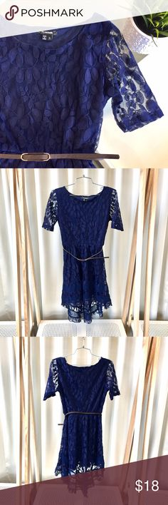 Spotted while shopping on Poshmark: MyMichelle Blue Hi-Lo Floral Mesh Dress! #poshmark #fashion #shopping #style #My Michelle #Dresses & Skirts