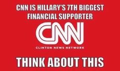 Think about that, this is why they are so biased on covering the debates, and the election. Shame on you CNN. This is why I have boycotted you.
