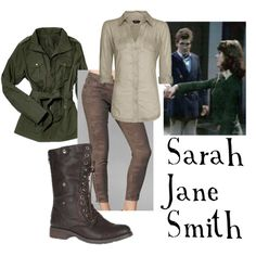 """Sarah Jane Smith"" by companionclothes on Polyvore. Doctor Who fashion. :)"