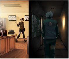 Naruto - Kakashi Hayate x Iruka Umino - KakaIru Naruto Kakashi, Gaara, Anime Naruto, Naruto Cute, Naruto Shippuden Anime, Boruto, Madara Uchiha, Yuri, Funny Naruto Memes