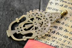 Qualety Ethiopian Coptic Cross African Pendant brass by Shimbra