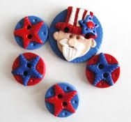 Uncle Sam Buttons that can be made into charms