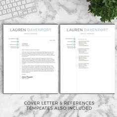 Modern Resume Template For Word And Pages  Por Landeddesignstudio