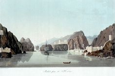 Sixteen Views of Places in the Persian Gulph... Forces... Against the Arabian Pirates No 3. Muskat from the Harbour -  Apr 1813 Temple, R Clark, I William Haines, William