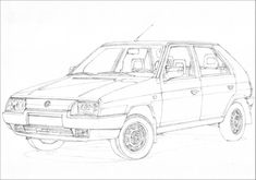 Skoda Favorit part 1 Common Czech hatchback very popular on Polish roads in 90s. Some of the copies are still running today like the one of my customer. #skoda #favorit #czech #hatchback #fwd #bertone #design #style #beauty #simple #youngtimer #classic #car #drawing #sketch #art #artist #artwork #speed #power #road #travel #motion #racing #rally #motorsport #mechanics #engine #passion #hobby