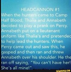 Awww that's our Percy!! Artemis can't have her sorry!!