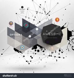 Geometric Polygonal Elements. Scientific Future Technology Concept. Template…