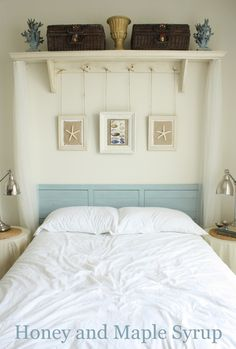 Honey and Maple Syrup: Bedroom Love the Shelf and shears (I could do this without spending a dime!)