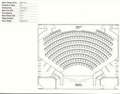 How to Design Theater Seating, Shown Through 21 Detailed Example Layouts,Courtesy of Theatre Solutions Inc. Auditorium Design, Auditorium Plan, Auditorium Seating, Theatre Architecture, Stadium Architecture, Architecture Plan, School Architecture, Cinema Theatre, Theatre Design