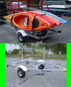 Kayak Tips Diy Kayak Trailer Rack Single Tier 4 Kayaks Rack kayak 4 Kayak Camping, Canoe And Kayak, Kayak Fishing, Diy Camping, Family Camping, Camping Ideas, Kayak Trailer, Trailer Diy, Kayak Storage Rack