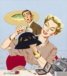 Crafty Happy Housewife  vintage illustration- This is so me!