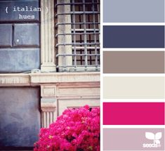 italian hues. These are the colors I'm going to use in the Master bedroom. Plus small bits of black. Every room needs a little black somewhere.