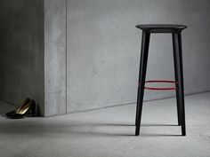 Audrey wood stool in setting