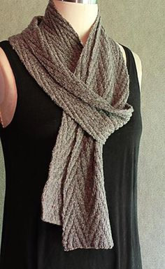 """Simple elegant stitch pattern is completely reversible.Gauge:32 sts and 32 rows = 4"""" / 10 cm in pattern stitch. Adjust needle size if necessary.Skills used:Cast on, bind off, knit, purl.Pattern includes:Written instructions, stitch patterns in both written and charted forms, abbreviations."""