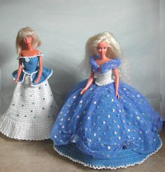 Haak Fashion Doll Barbie patroon 488 blauwe door JudysDollPatterns