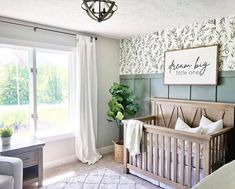 """Dream Big Little One"" / Farmhouse Style / Rustic / Home Decor / Hand painted / Wood sign / Gifts / Nursery / Children Baby Nursery Decor, Baby Bedroom, Baby Boy Rooms, Baby Boy Nurseries, Baby Boys, Accent Wall Nursery, Baby Nursery Neutral, Nursery Ideas For Boys, Nursery Room Ideas"