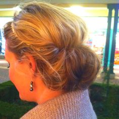 Tuck hair into head band.  The headbands from Lilla Rose work great with this style!