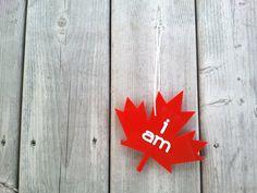 I Am Canadian red acrylic maple leaf. Canada Day Canada flag on Etsy, $18.00