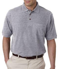 8544 - UltraClub Whisper Pique Polo Shirt w/Pocket
