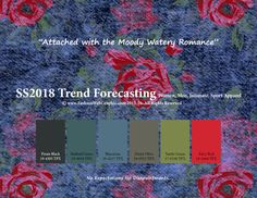 Spring Summer 2018 Fashion Trend Forecasting for Women, Men, Intimate, Sport Apparel - Attached with the Moody Watery Romance www.JudithNg.com