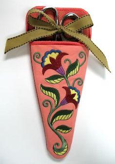 Crewel Flower Scissors Case - Lg (In-the-Hoop)