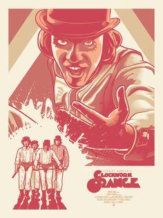Clockwork Orange Fan Art #Movie #Poster by Paul Ainsworth