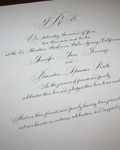 Wedding certificate Hand written calligraphy Bickham Script