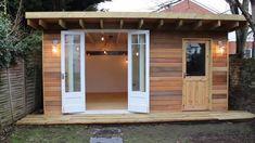 Barn storage shed plans free. Diy Backyard Storage Shed Plans and Sh… - Gartenhaus diy Backyard Storage Sheds, Backyard Sheds, Outdoor Sheds, Backyard Barn, Man Cave Outdoor, Backyard House, Backyard Studio, Garden Studio, Outdoor Rooms