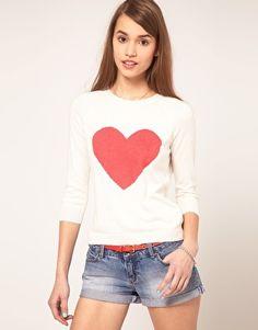 ASOS Angora Sweater With Heart
