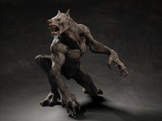 Werewolf creature by Cecoaliensa. 3ds Max. #cg