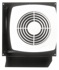 Broan-Nutone Through-the-Wall Ventilation Fan, White Square Exhaust Fan, Sones, 180 CFM, The includes an on/off rotary switch — no wall switch to wire. Through Wall Ventilation Fan. Kitchen Exhaust, Bathroom Exhaust Fan, Kitchen Fan, Kitchen Ideas, Air Ventilation, Wall Fans, Steel House, Wall Installation, Küchen Design