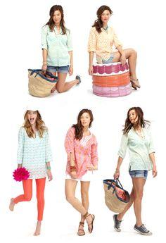 tunics and shorts