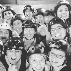 Don't let these sweet smiling faces fool you.  The Atom Smashers are coming to win Winter Wipeout again this year. by drrollerderby