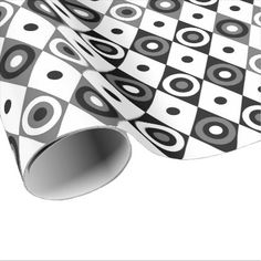 Black White Diamonds Wrapping Paper - craft supplies diy custom design supply special