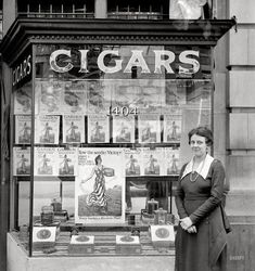 Cigar Store and National Emergency War Garden Commission Display - Washington D.C. (1918)