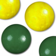 """Unique and Custom {5/8' Inch} Set Of Approx 50 """"Round"""" Opaque Marbles Made of Glass for Filling Vases, Games and Decor w/ Two Tone Basic Smooth Plain Glossy Design (Green and Yellow Colors) * Want to know more, click on the image. (This is an affiliate link and I receive a commission for the sales)"""