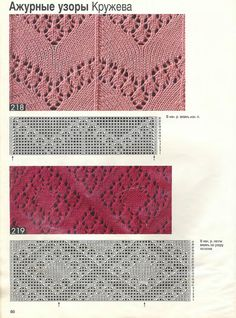 Wzory na druty - Mirka Bień - Picasa Web Albums Lace Knitting Stitches, Lace Knitting Patterns, Baby Hats Knitting, Knitting Books, Knitting Charts, Lace Patterns, Knitting Designs, Hand Knitting, Stitch Patterns