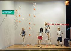 Benetton window displays Summer 2012, Budapest visual merchandising