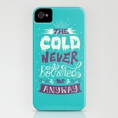 Frozen: The Cold Never Bothered Me Anyway iPhone & iPod Case by Risa Rodil | Society6