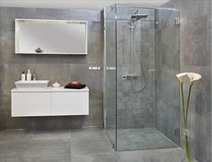 AP Concrete Fuse med INR Arc Victoria dusj og - Lilly is Love Interior Blogs, Interior And Exterior, Beaumont Tiles, Floor Texture, Duravit, Wood Vanity, Grey Bathrooms, Home Renovation, Double Vanity