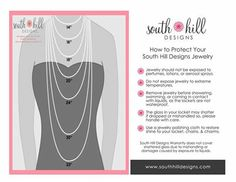 South Hill Designs Chain Lengths