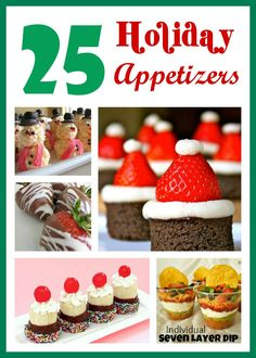Six Sisters' Stuff: 25 Holiday Appetizers- these all look amazing!!!