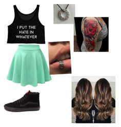 """""""Hanging out"""" by lilatakumi ❤ liked on Polyvore featuring LE3NO and Vans"""