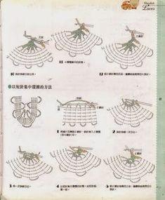 DBrigi munkái: Horgolás kezdőknek Crochet Symbols, Crochet Chart, Thread Crochet, Filet Crochet, Irish Crochet, Crochet Doilies, Crochet Lace, Crochet Stitches, Crochet Patterns