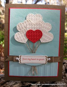 Great simple card 2-13-12, Poppy Parade, Pool Party, Soft Suede, White